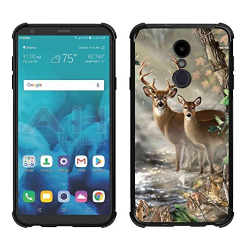 - LG Stylo 4 Case, LG Q Stylus Vector Forest Deer Case, ABLOOMBOX Shock Absorption Soft Bumper Slim Rubber Protective Case Cover with Reinforced Corners for LG Stylo 4