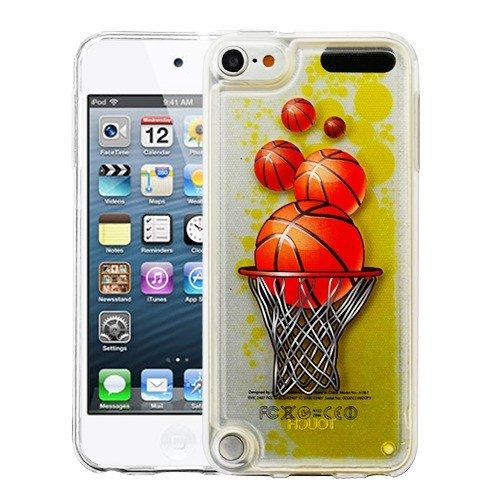 MyBat iPod Touch 5th Gen/6th Gen Case, Oil Aqualava Basketball PC/TPU Rubber Case Cover for Apple iPod Touch 5th Gen/6th Gen, Yellow