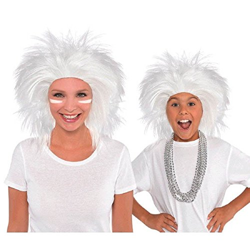 AMSCAN Crazy Wig Halloween Costume Accessories, White, One -