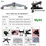 "MySit 6"" Long Stroke Office Chair Gas Lift Cylinder Pneumatic Shock Longest Heavy Duty Replacement for Tall Person"