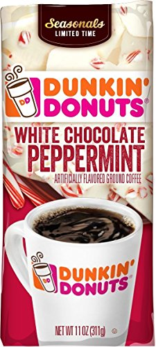 Dunkin Donuts White Chocolate Peppermint, 11 Oz Bag (Pack of 3) Chocolate Doughnut