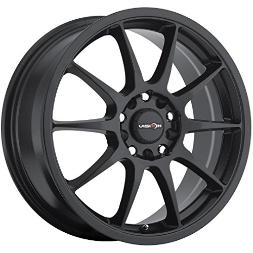 Vision Venom 16 Black Wheel / Rim 5x100 & 5x4.5 with a 38mm Offset and a 73.1 Hub Bore. Partnumber 425-6718MB38