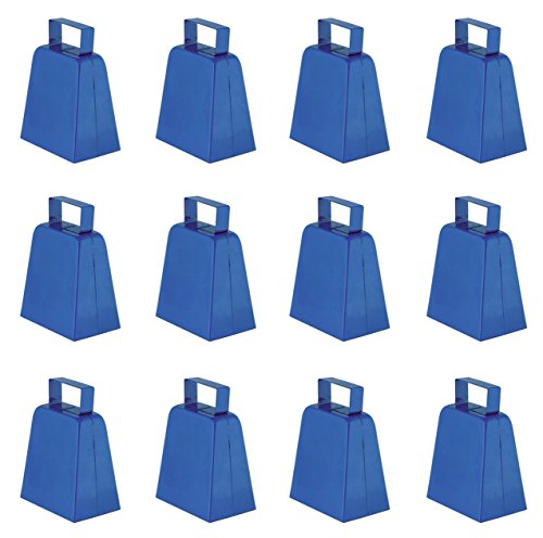 Beistle 12-Pack Cowbells, 4-Inch, Blue]()