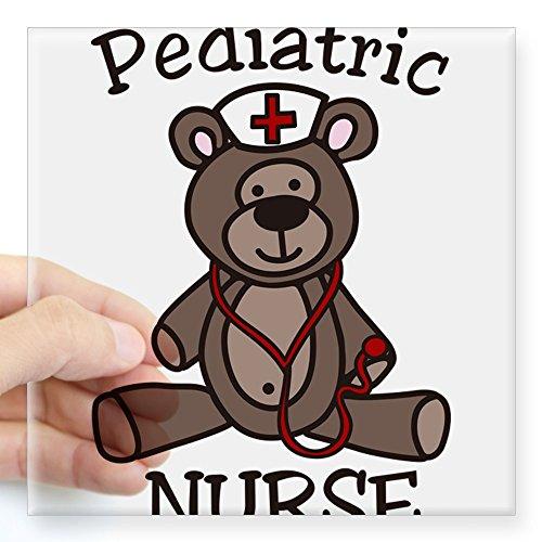 CafePress - Pediatric Nurse Square Sticker 3