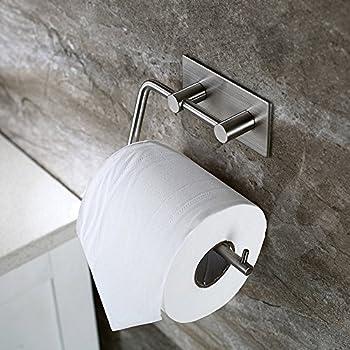 Amazon Com Kes Self Adhesive Toilet Paper Holder