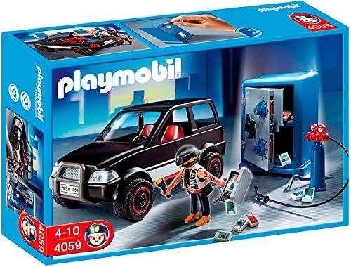 Playmobil- Thief with Safe and Getaway Car Ladrón de Caja Fuerte con Coche, (626564): Amazon.es: Juguetes y juegos