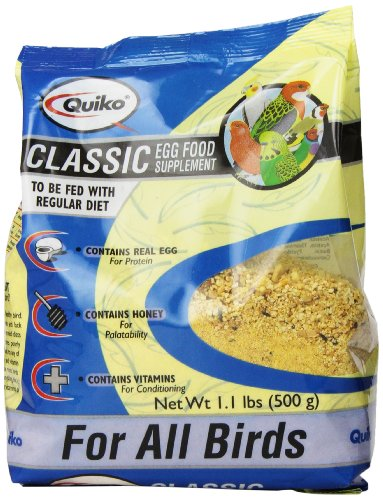 Quiko Classic Egg Food Supplement for All Birds, 1.1 lb. (Plus Finch Food)