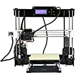 3D Printer - 3D Printer, LESHP Self-Assembly Desktop SD Card 3D Printer High Speed Precision with LCD Works with PLA ABS Filaments for DIY