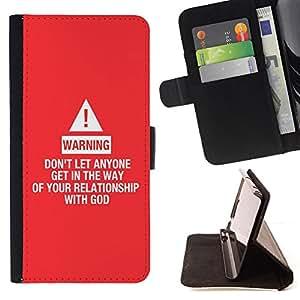 BullDog Case - FOR/Samsung Galaxy A3 / - / RELATIONSHIP WITH GOD /- Monedero de cuero de la PU Llevar cubierta de la caja con el ID Credit Card Slots Flip funda de cuer