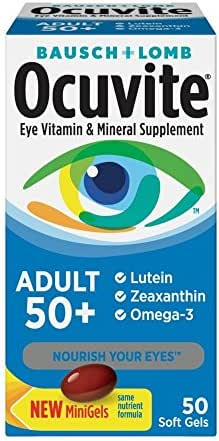 Bausch & Lomb Ocuvite Adult 50+ Eye Vitamin & Mineral Softgels 50 ea ( Pack of 2 )