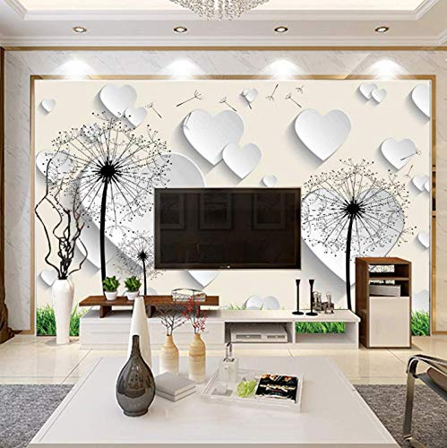 Elegant Magnolia - Simple Living Room TV Background Wallpaper Wallpaper Abstract Elegant Magnolia Dandelion Mural, 300210cm