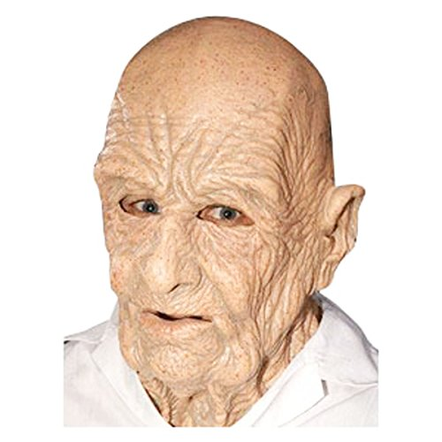 Old Man Scary Halloween Latex Face Mask - Off the Wall (Scary Old Man Halloween Mask)