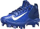 NIKE Boy's Force Trout 3 BG Pro Baseball Cleats (4 Big Kid M, Racer Blue/Rush Blue/White)