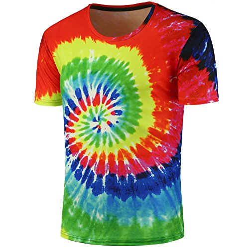 refulgence Tie Dye Vintage Pigment Collection Youth & Adult T-Shirt Men Women - Fun, Multi Color Tops ()