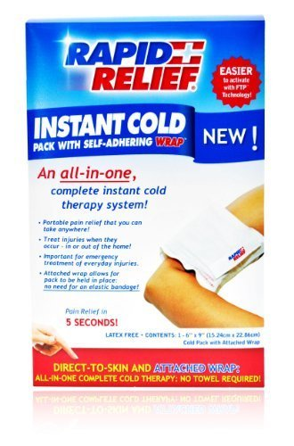 Instant Cold Pack with Self-Adhering Wrap by Rapid Aid Corp.