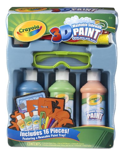 Crayola 3D Deluxe Sidewalk Paint Tray (Sidewalk Paint Crayola compare prices)