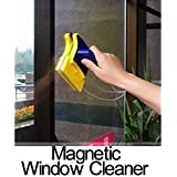 GN ENTERPRISES Double-Side Magnetic Glass Cleaner with 2 Extra Cleaning Cotton for Glass Windows & Doors Car Window Cleaner