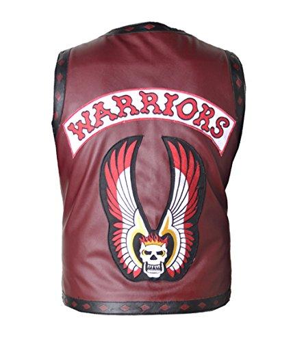 HLS Men's Warrior Swan Ajax NY Gangsta Burgundy Faux Leather Vest