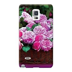 Samsung Galaxy Note 4 Cpu15499OFRu Custom Colorful Basket Full Of Blossoms Image Perfect Hard Phone Case -KennethKaczmarek
