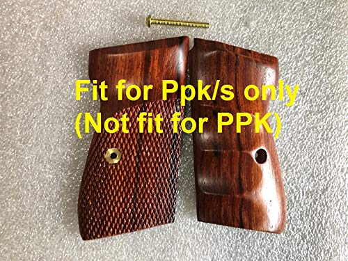 New!! Grip for Walther (S&W) PPK/S Pistol Grip, Half Checkered & Smooth finger groove, Hardwood, Handmade