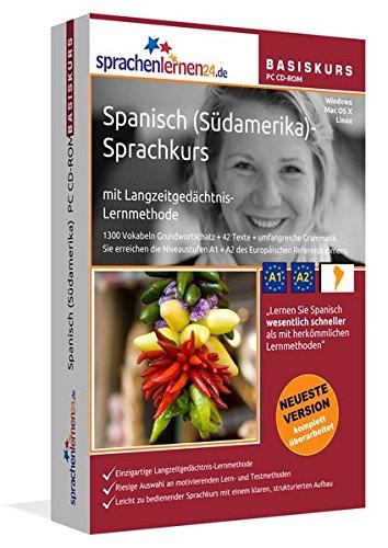 Spanisch (Südamerika)-Basiskurs mit Langzeitgedächtnis-Lernmethode von Sprachenlernen24.de: Lernstufen A1 + A2. Sprachkurs für Anfänger. PC CD-ROM für Windows 8,7,Vista,XP / Linux / Mac OS X