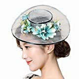 TTjII Cocktail Flower Sinamay yarn Fascinator Hair Clip Women Kentucky Derby Church Tea Party Wedding Hats Hairpin Hat Party Derby Wedding Accessory