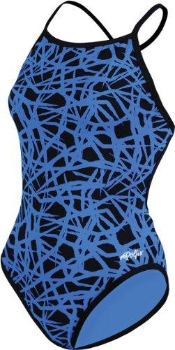 Dolfin Chloroban Reversible Cross (Dolfin Tracks Reversible Polyester Crossback - Womens - blue,)