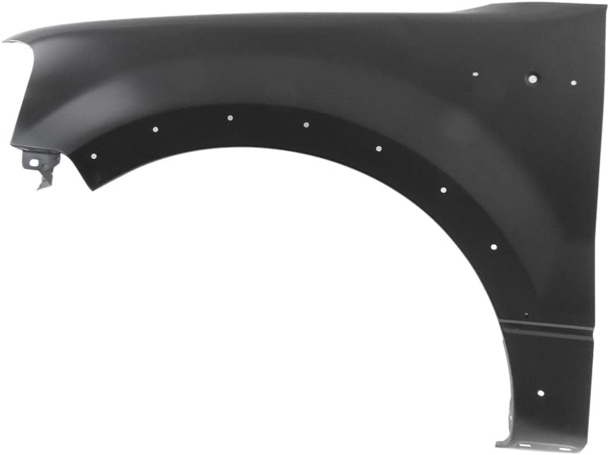 Titanium Plus Autoparts 2004-2008 Fits For Ford F-150 Front,Left Driver Side FENDER WITH WHEEL OPENING MOULDING HOLE