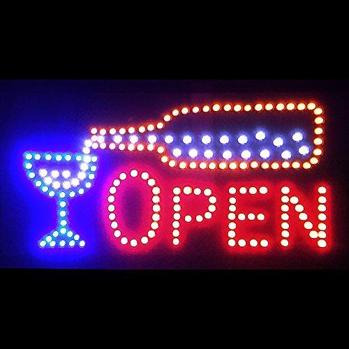 LED MOTION Animated Bar Bottle & Glass Neon Sculpture Lamp Sign 19' (Bar Sculpture Neon)