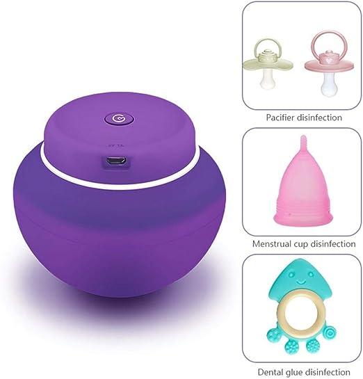 Volwco Esterilizador De Copa Menstrual: Limpiador UV para Desinfección, Limpiador Portátil para Copas Menstruales: 5 Minutos Y Su Copa De Período Está Limpia (Recargable): Amazon.es: Hogar