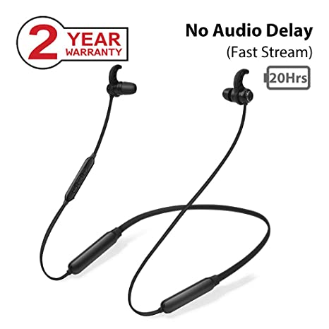 Avantree NB16 20 Horas Auriculares de Nuca Bluetooth Diadema Inalambricos para TV PC, Magnético Auriculares