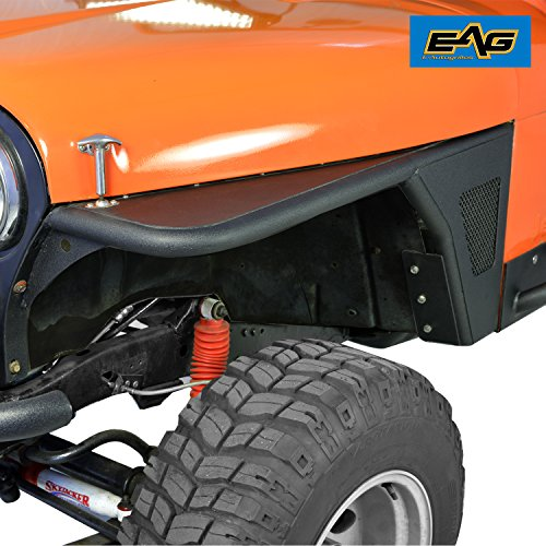 E-Autogrilles EAG 76-86 Jeep Wrangler CJ Black Textured Off Road Front Fender Cj Tube Fenders