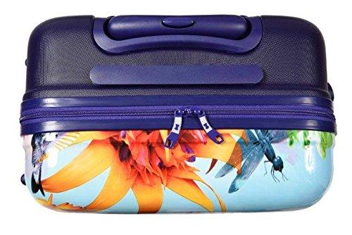 Maleta Cabina rígida 4 Ruedas - 56 cm Le Modiste colorée y Vintage Azul Claro - l201lb-51: Amazon.es: Equipaje