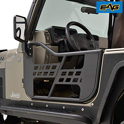 EAG 97-06 Jeep Wrangler TJ Safari Steel Tubular Doors With Side View ()