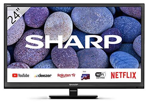 🥇 Sharp Aquos 24BC0E-Televisor Smart TV de 24″-24 Pulgadas HD WiFi