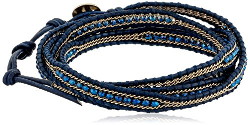 Chan Luu Allure Gold-Plated Chinese Crystal Five-Wrap Bracelet