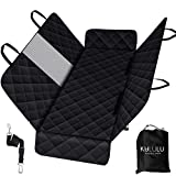 Kululu Patented Dog Car Seat Covers with Mesh Window.Suitable for Back seat of Cars/Trucks/SUV'S. 100% Waterproof, Washable, Non-Slip, Scratchproof Hammock Style Dog Seat Cover+ Bonus Dog Seat Belt