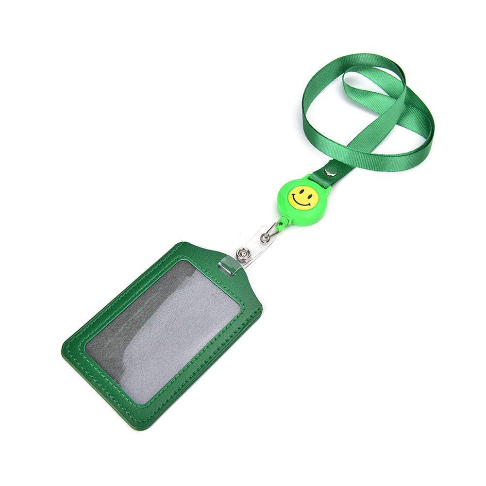 Jiyoujianzhu badge badge retrattile cordino cintura Green