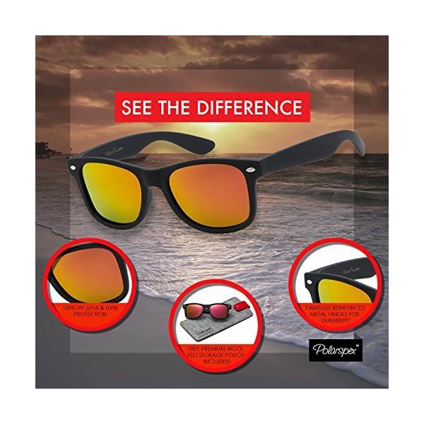 98c915dbd00 Polarspex Polarized 80 s Retro Classic Trendy Stylish Sunglasses for ...