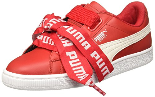 puma Shoes Basket Heart De Wn��s red/White Size: 40