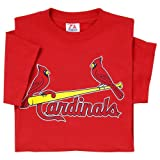 St. Louis Cardinals (ADULT LARGE) 100% Cotton Crewneck MLB Officially Licensed Majestic Major League Baseball Replica T-Shirt Jersey