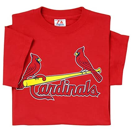 61a99bff61aab St. Louis Cardinals (YOUTH MEDIUM) 100% Cotton Crewneck MLB Officially  Licensed Majestic Major League Baseball Replica T-Shirt Jersey