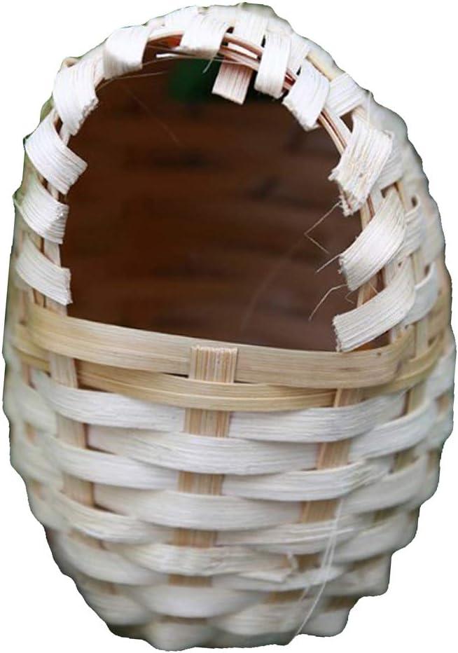 Fenteer Jaula de Pájaros de Bambú Natural Nido de Paja Productos para Mascotas - S