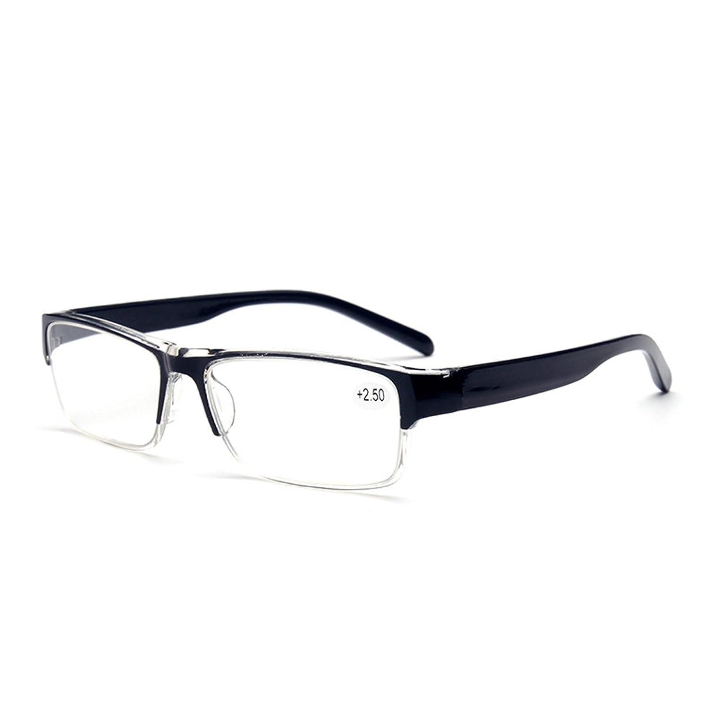 Aiweijia Unisex Half Rimmed Reading Glasses Plastic Frame Lente de plástico 1.0 1.5 2.0 2.5 3.0 3.5 4.0