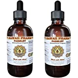 Parsley Liquid Extract, Organic Parsley (Petroselinum crispum) Tincture, Herbal Supplement, Hawaii Pharm, Made in USA, 2x2 fl.oz