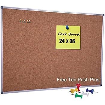 Amazon.com: VIZ-PRO - Tablón de anuncios de corcho, 36.0 x ...