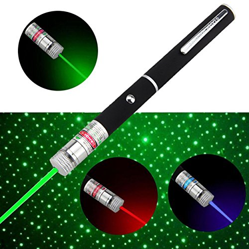(JING TAI Powerful Pointer Beam Red/Green/Purple Color Starry Star Pen Beam Light 5MW 532nm)