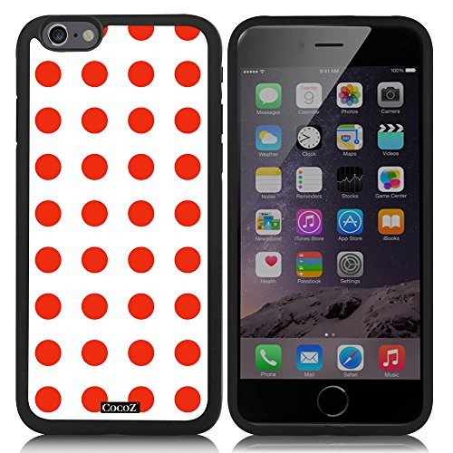 CocoZ® New Apple Iphone 6 s 4.7-inch Case Simple Lovely Polka Dot (Black TPU & Polka Dot 23)