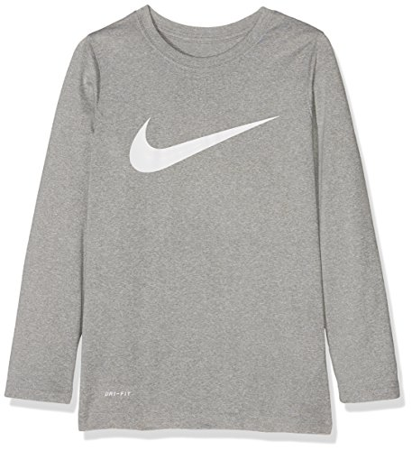 white Heather Dark Solid Bambino Grey Swoosh shirt T Dry Nike qBw1zz