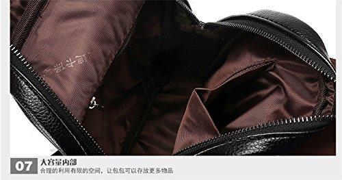 Hongrun Mens poitrine pack fashion-men et le porte-monnaie plein air de luxe classique obligatoire